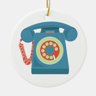 Telephone Round Ceramic Decoration