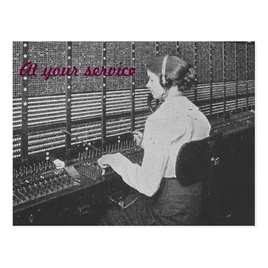 Telephone Switchboard Operator Postcard