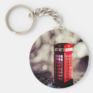 TelephoneBox.jpg Basic Round Button Key Ring