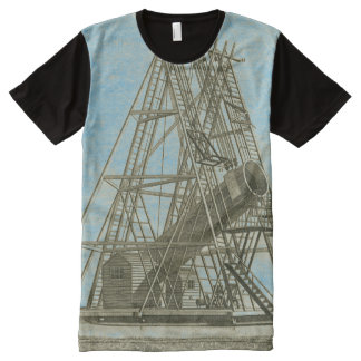 Telescope Antique SCIENCE EQUIPMENT 18TH CENTURY All-Over Print T-Shirt
