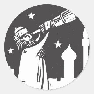 Telescope Classic Round Sticker