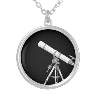 Telescope drawing necklace