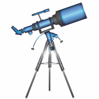 Telescope Photo Sculpture Key Ring
