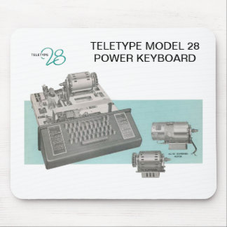 Teletype Model 28 Keyboard Mouse Pad
