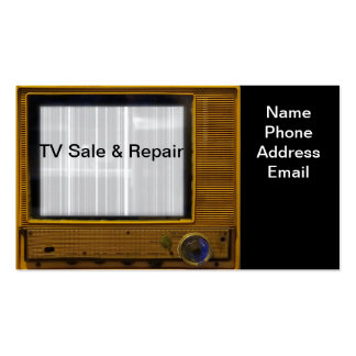 Television and Monitor Sale and Repair Services Pack Of Standard Business Cards