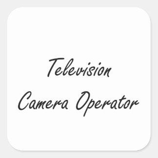 Television Camera Operator Artistic Job Design Square Sticker