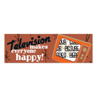 Television Makes Everyone Happy! Copper Brown Pack Of Skinny Business Cards
