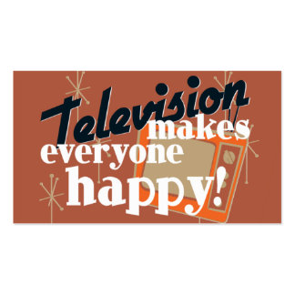 Television Makes Everyone Happy! Copper Brown Pack Of Standard Business Cards