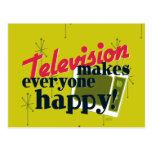 Television Makes Everyone Happy! Post Cards