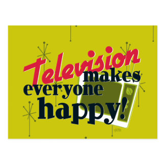 Television Makes Everyone Happy! Postcard
