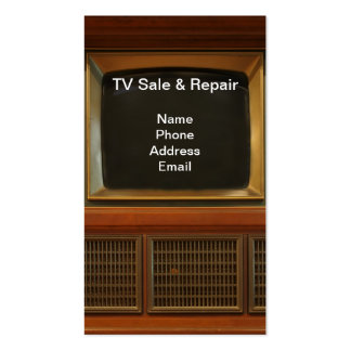 Television Sale and Repair Services Pack Of Standard Business Cards