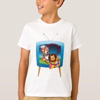 Television screen with animals on the rollercoaste T-Shirt
