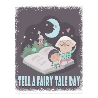 Tell A Fairy Tale Day - Appreciation Day Postcard