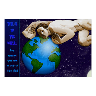 Tell It To The World (Personalized Poster) Poster
