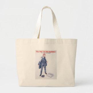 Tell Marines World War II Jumbo Tote Bag