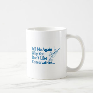 Tell Me Again Why You Don't Like Conservatives Coffee Mug