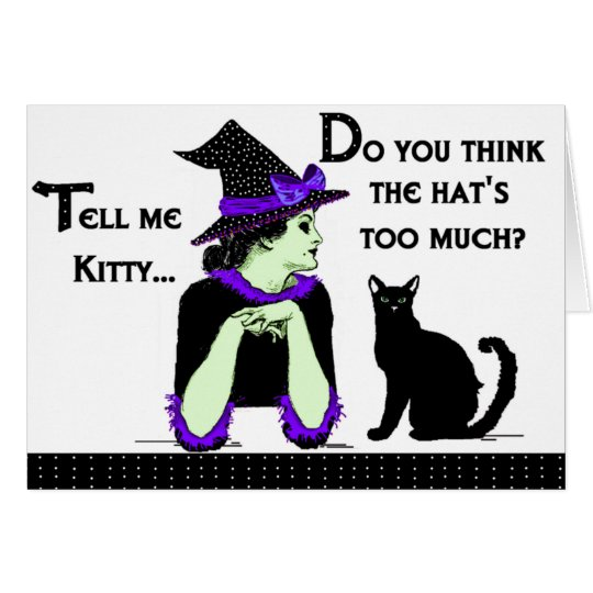 """Tell Me Kitty"" Card"