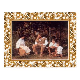 Tell Spiele, the William Tell play, Wilderswil Postcard