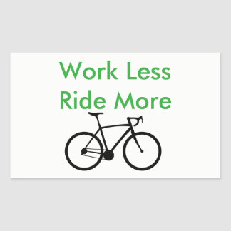 Tell the world you'd rather be riding rectangular sticker
