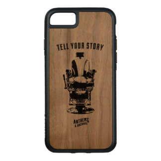 Tell Your Story - Barber chair phone Carved iPhone 8/7 Case
