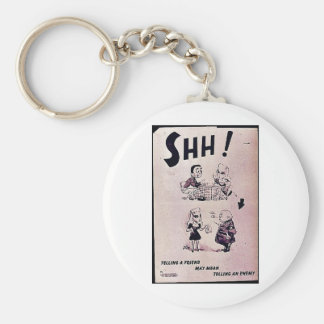 Telling A Friend May Mean Telling An Enemy Basic Round Button Key Ring