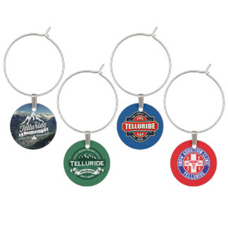 Telluride Colorado Wine Charm Set