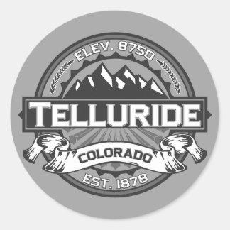 Telluride Grey Classic Round Sticker