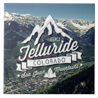 Telluride Mountain Vintage Ceramic Tile