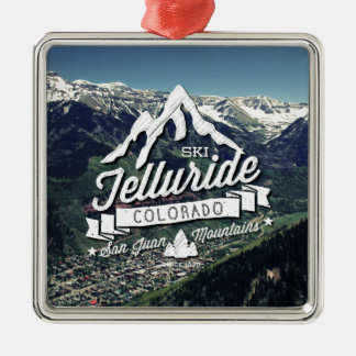 Telluride Mountain Vintage Metal Ornament