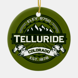 Telluride Olive Ceramic Ornament