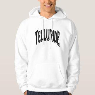 Telluride Shadow Logo For White Hoodie
