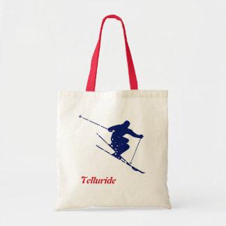 Telluride Skier Tote Bag