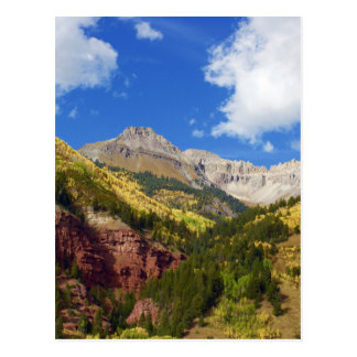 Telluride Valley Autumn Colours Postcard