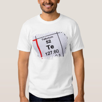 Tellurium molecular formula shirt