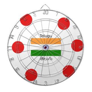 Telugu Language And India Flag Design Dartboard
