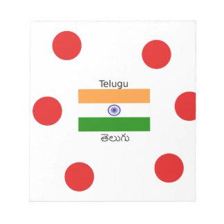Telugu Language And India Flag Design Notepad