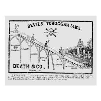 Temperance Movement, 1887 Postcard