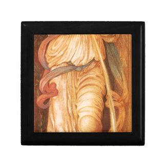 Temperantia by Edward Burne-Jones Small Square Gift Box