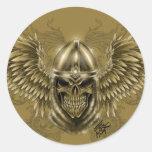 Templar Knight Gothic Mediaeval Skull with Wings