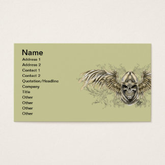 Templar Knight Gothic Medieval Skull with Wings Business Card
