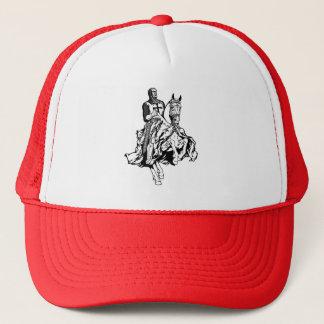 Templar knight trucker hat