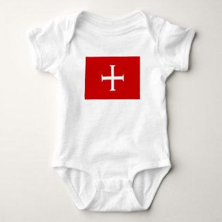 templar knights red cross malta teutonic hospitall baby bodysuit