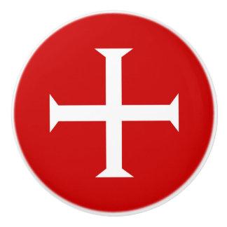 templar knights red cross malta teutonic hospitall ceramic knob
