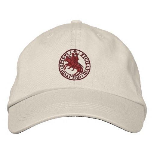 Templar knights seal - sigillo templari embroidered hat