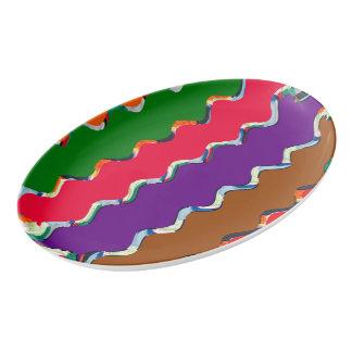 Template add color photo text customizable porcelain serving platter