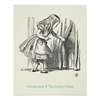 Template Alice Looking for the Door Poster