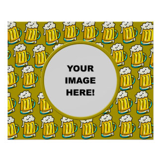 Template, Beer Border Poster