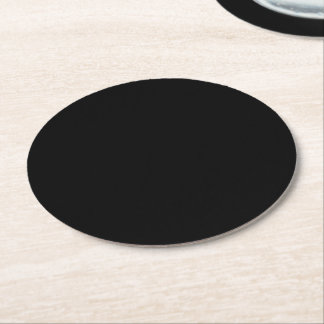 TEMPLATE Blank DIY change color add TEXT IMAGE Round Paper Coaster