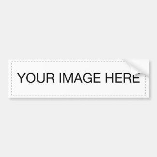 Template blank easy add TEXT PHOTO JPG IMAGE FUN Bumper Sticker