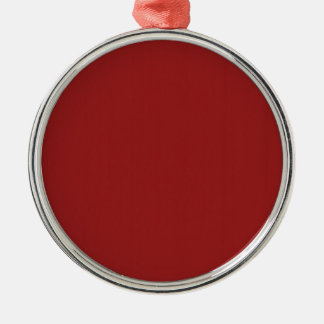 Template Blank Red Shade easily add text photo Silver-Colored Round Decoration